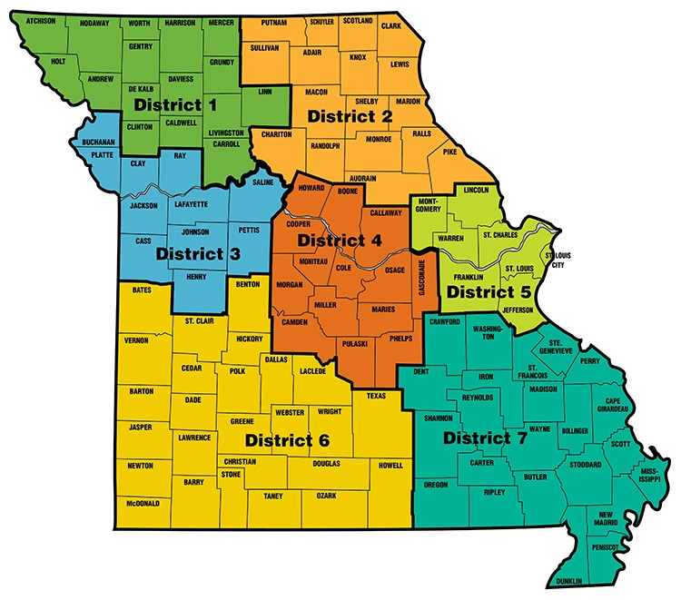 District Map – Missouri Economic Development Council on